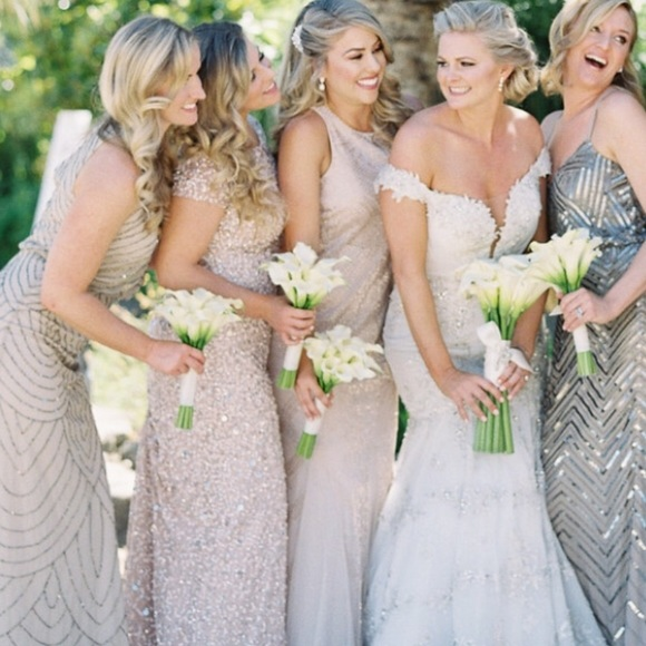 3e7cbb57620 Adrianna Papell Dresses   Skirts - Adriana Papell Sequined Bridesmaids Dress